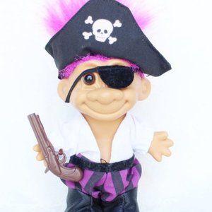 Russ Troll Pirate, Vintage Troll with Eyeputch